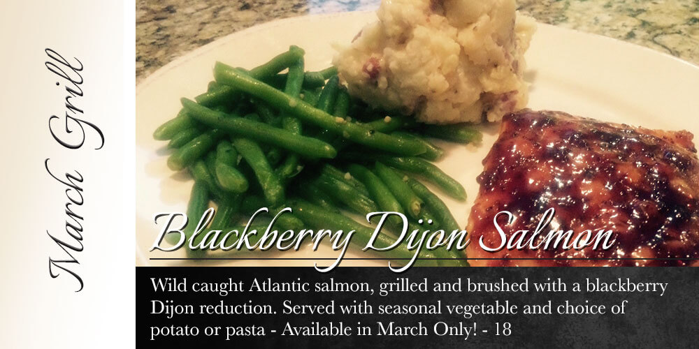 March Grill: Blackberry Dijon Salmon